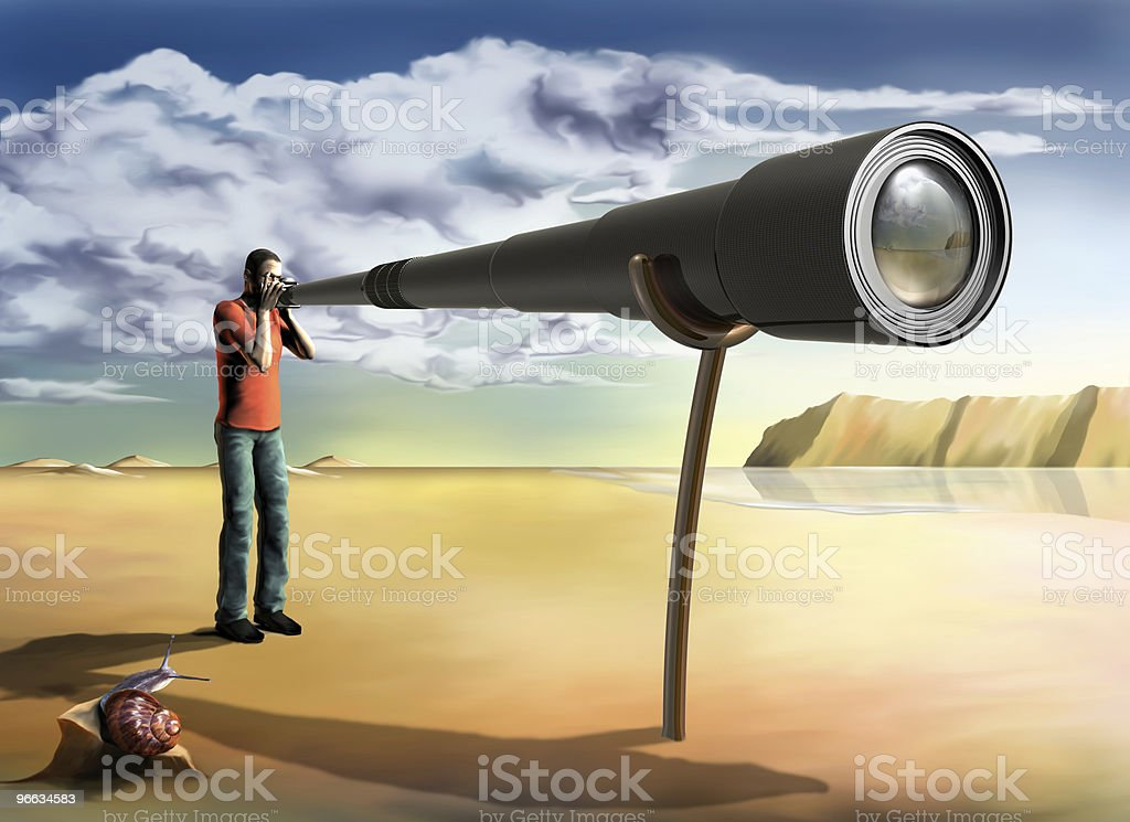 Surreal photographer vector art illustration