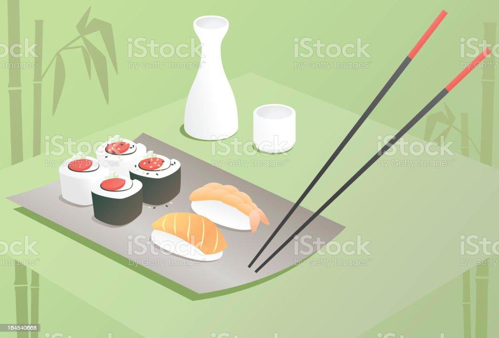 Sushi Dinner royalty-free stock vector art