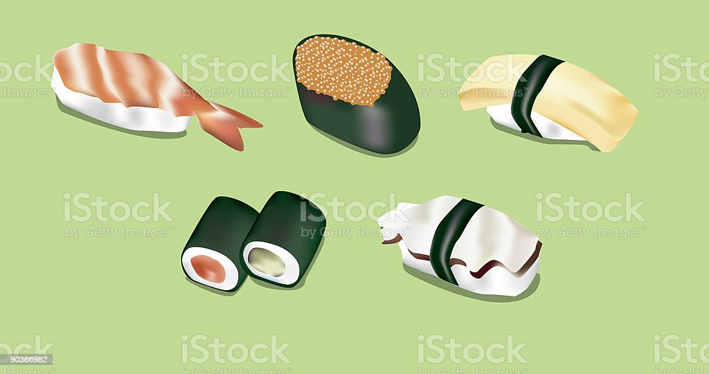 Sushi royalty-free stock vector art