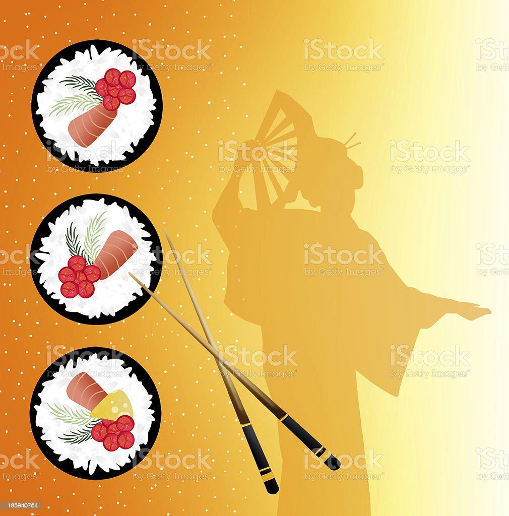 Sushi menu royalty-free stock vector art