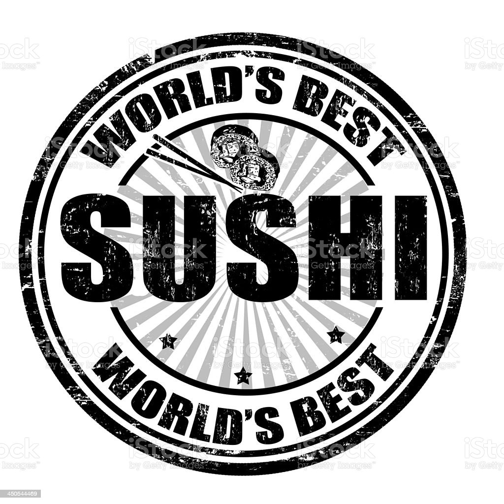 Sushi stamp royalty-free stock vector art