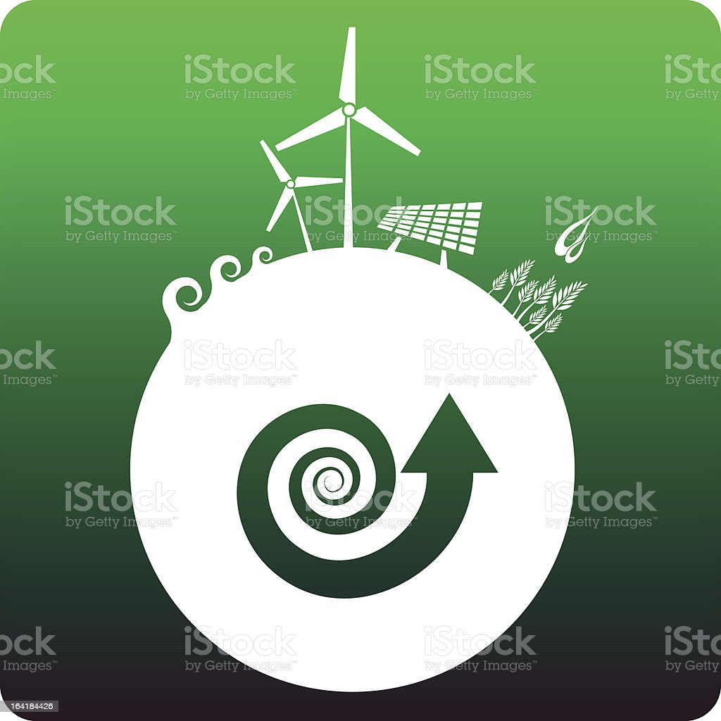 Sustainable energy royalty-free stock vector art