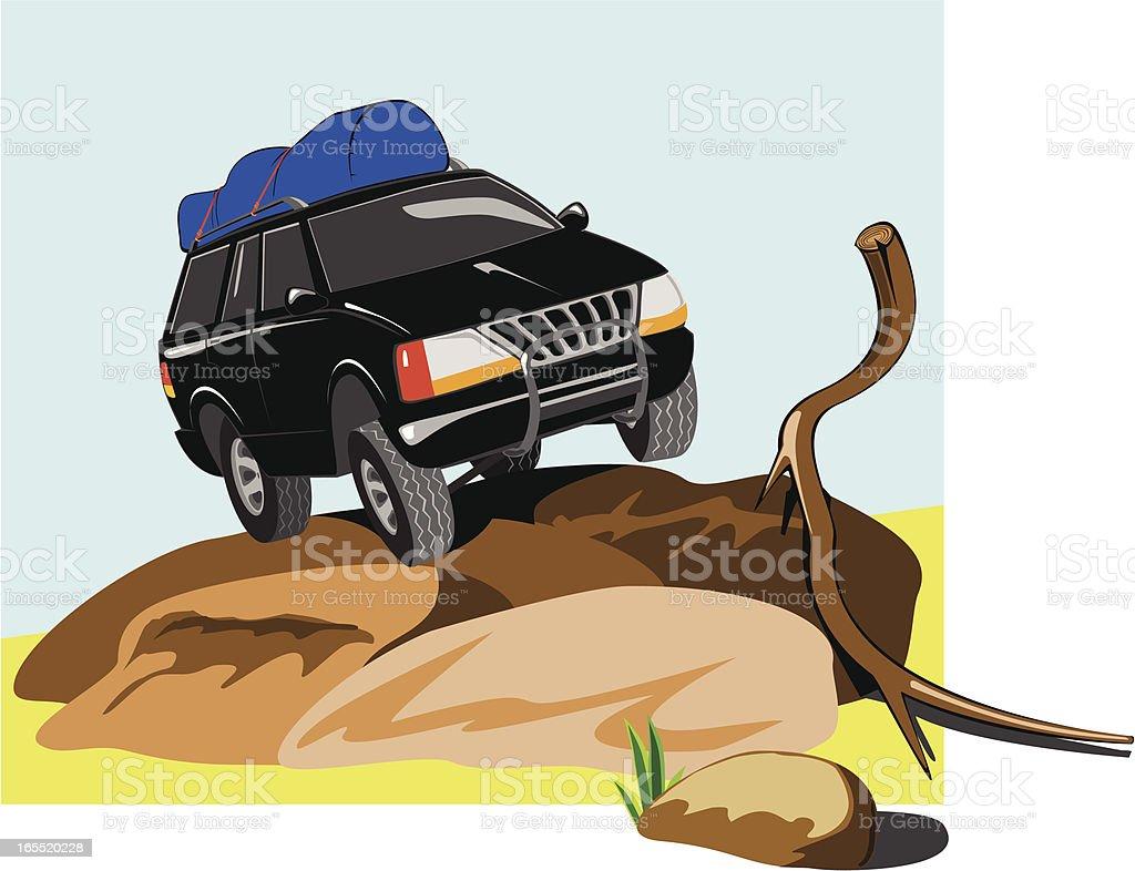 SUV_Off Road vector art illustration