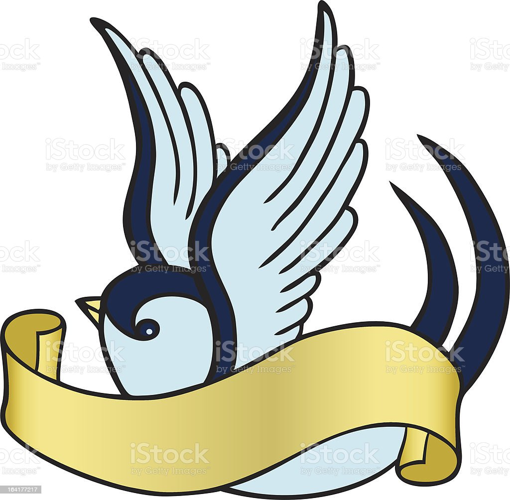 swallow tattoo vector art illustration