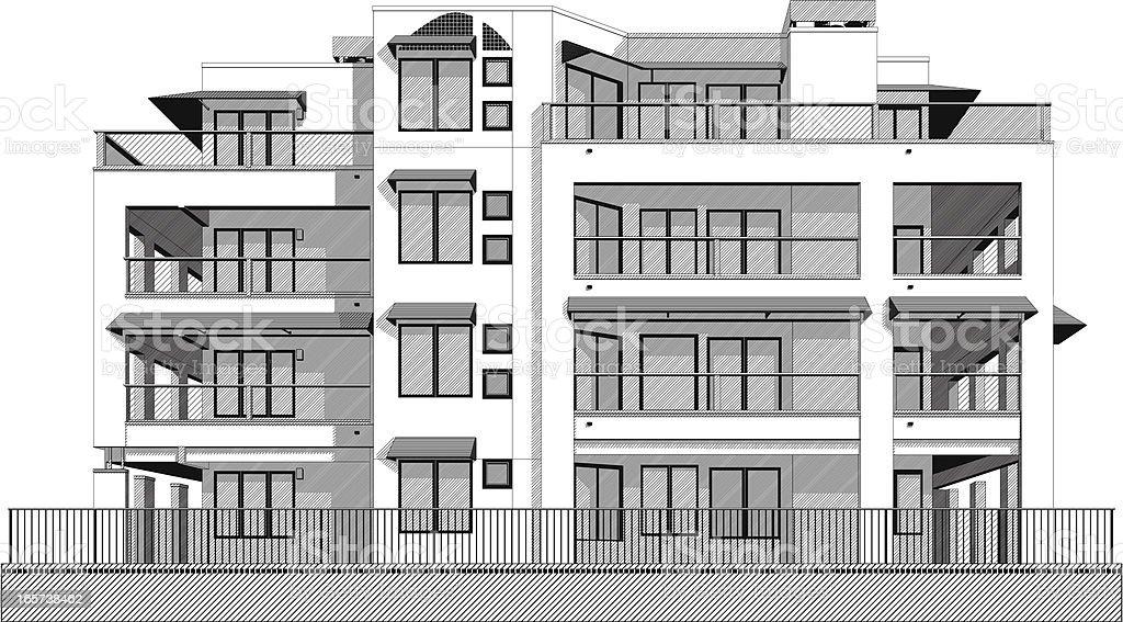Swanky Condo Apartment Building Stock Vector Art Istock