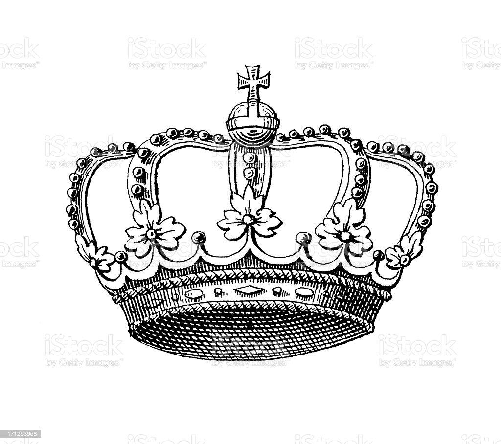 Swedish Royal Crown   Historic Symbols of Monarchy and Rank royalty-free stock vector art