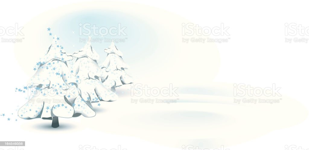 Sweet Christmas landscape royalty-free stock vector art