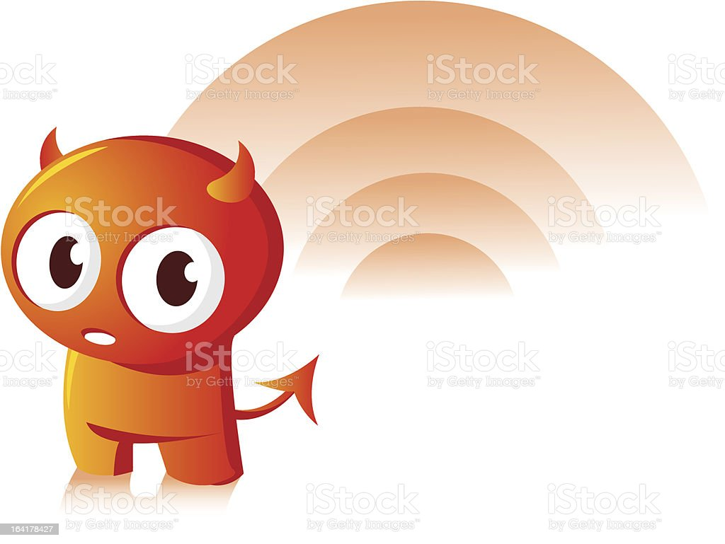 Sweet devil royalty-free stock vector art