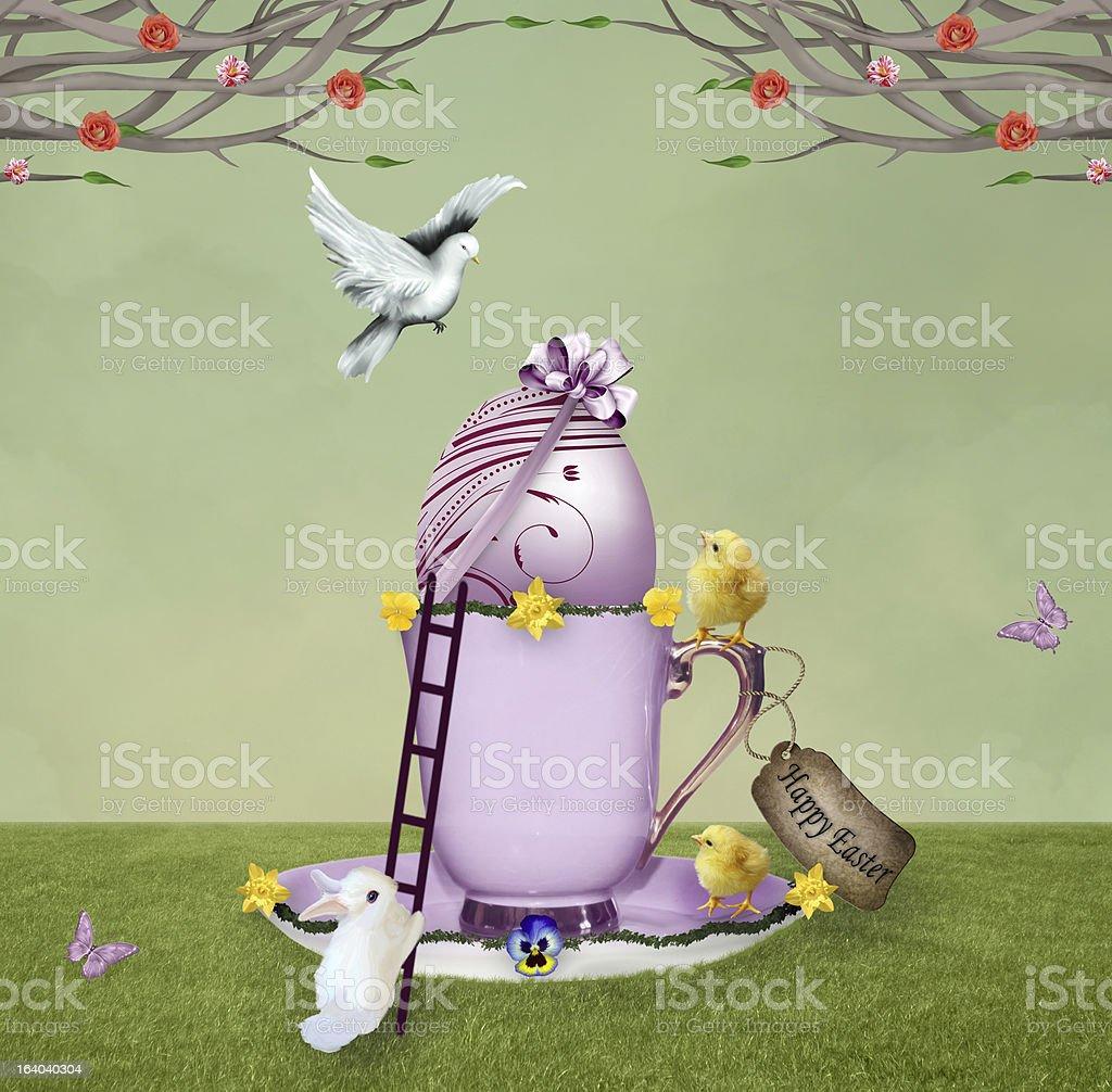 Sweet easter egg royalty-free stock vector art