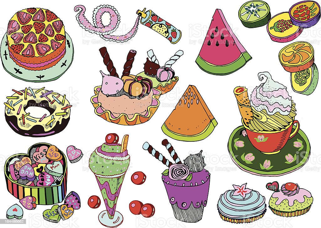 Sweet Party Vector Set royalty-free stock vector art