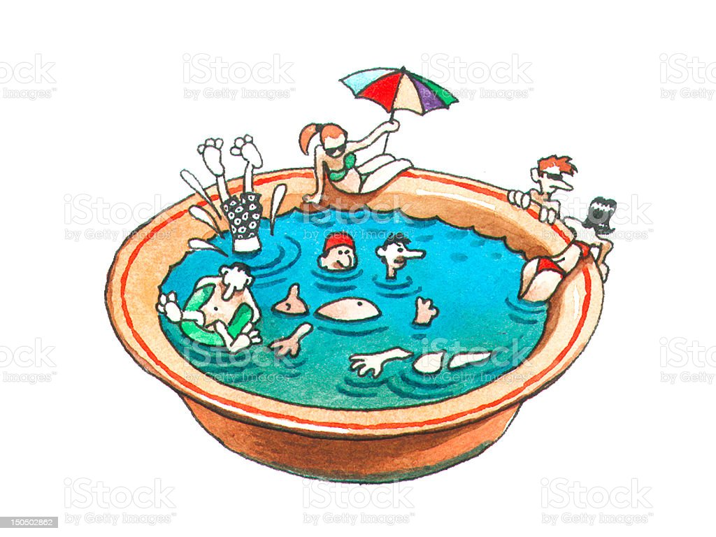 Swimming season royalty-free stock vector art