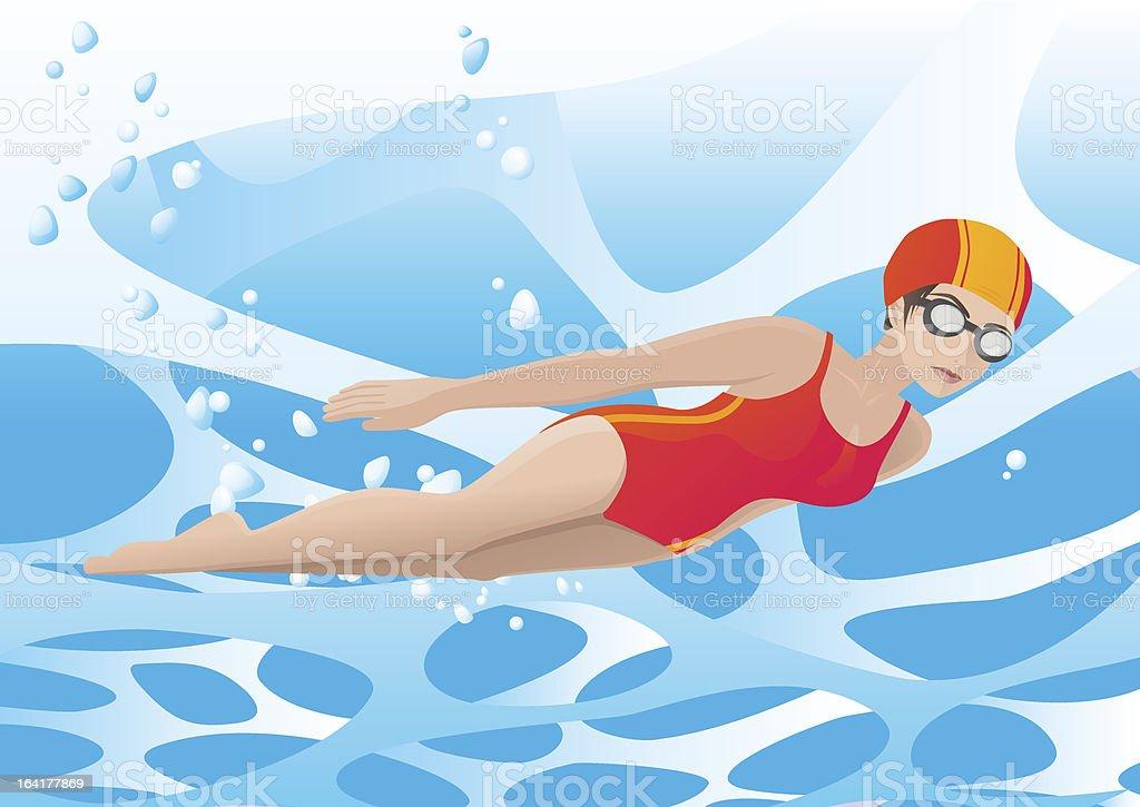Nuoto sott'acqua illustrazione royalty-free