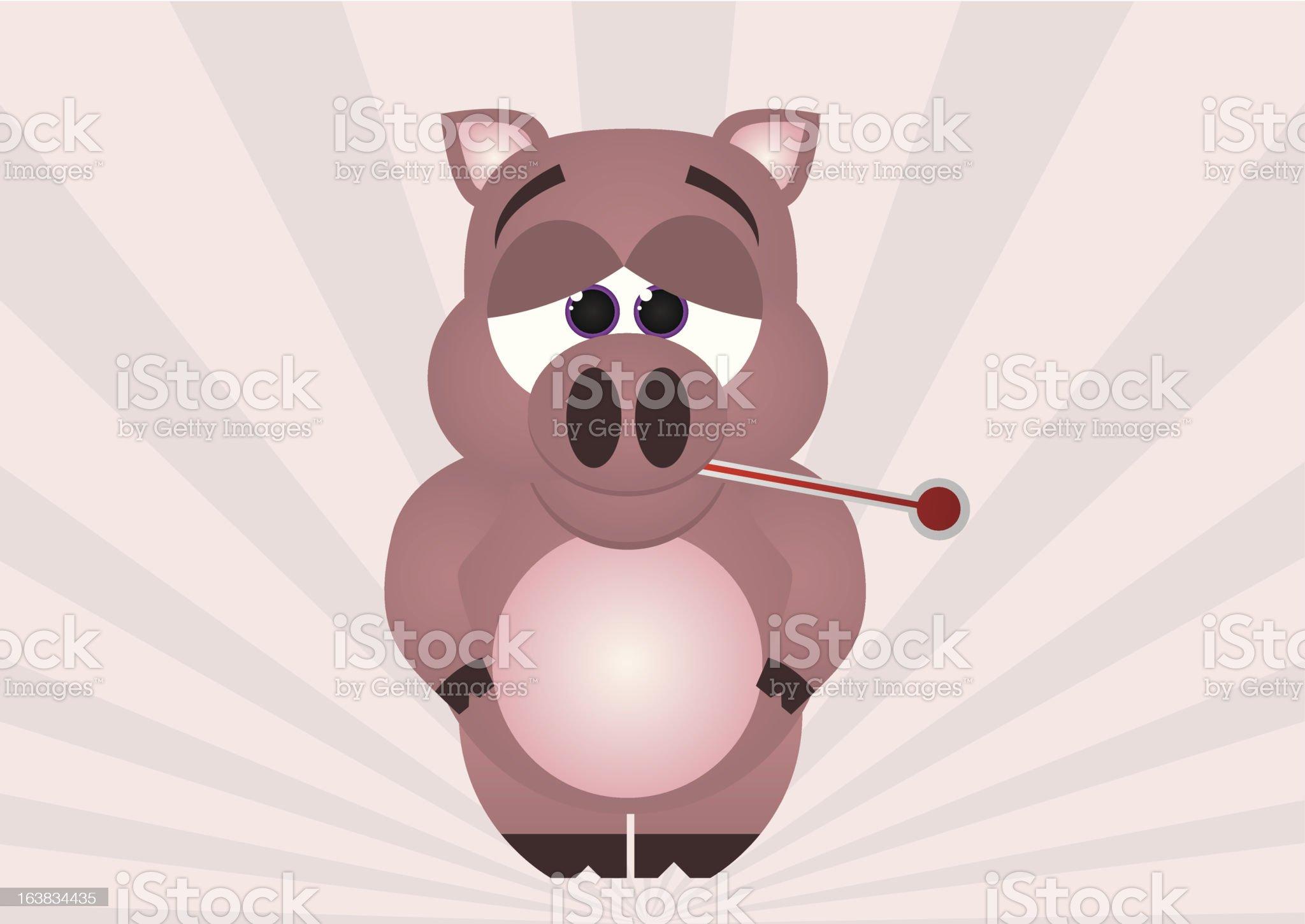 Swine Flu royalty-free stock vector art
