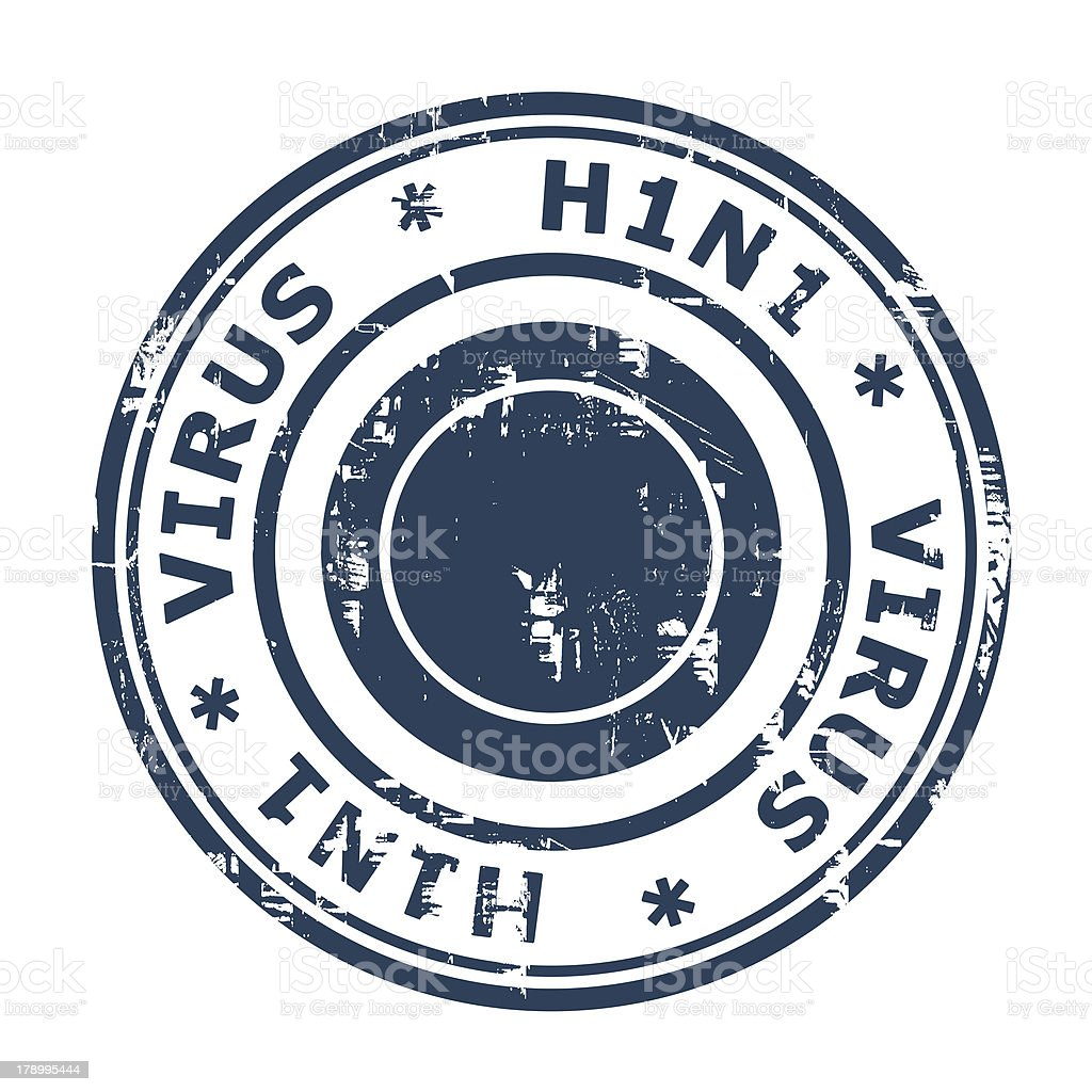 H1N1 Swine Flu Stamp vector art illustration
