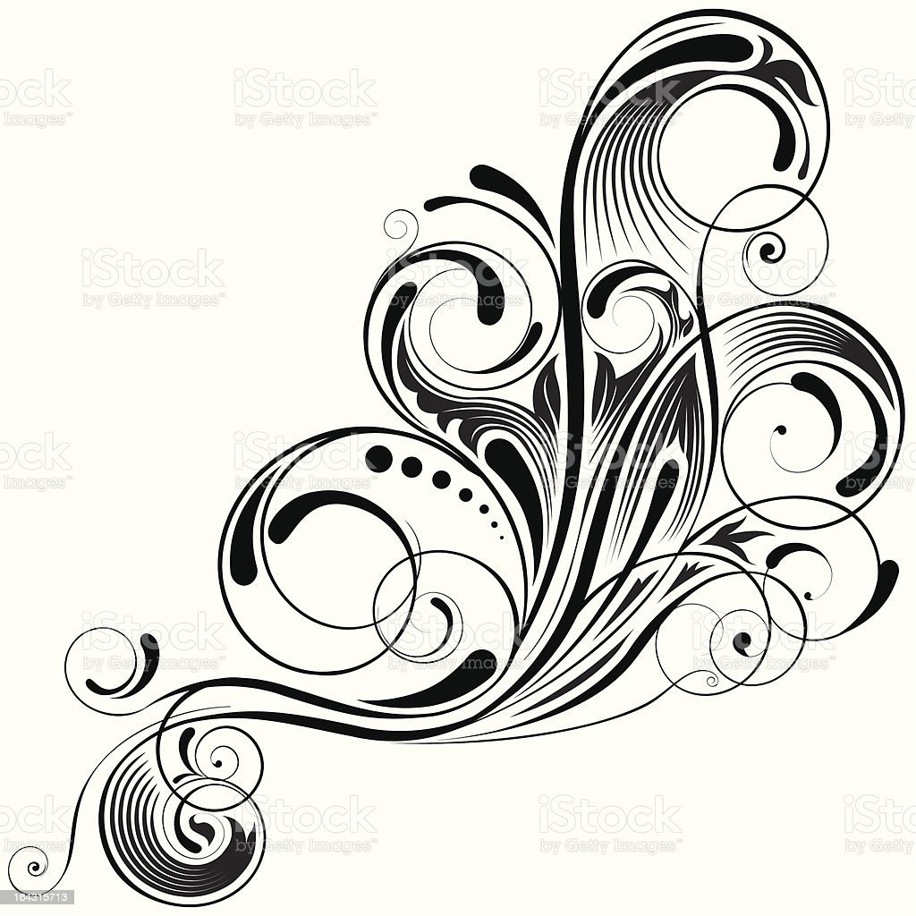 Swirl angle design royalty-free stock vector art