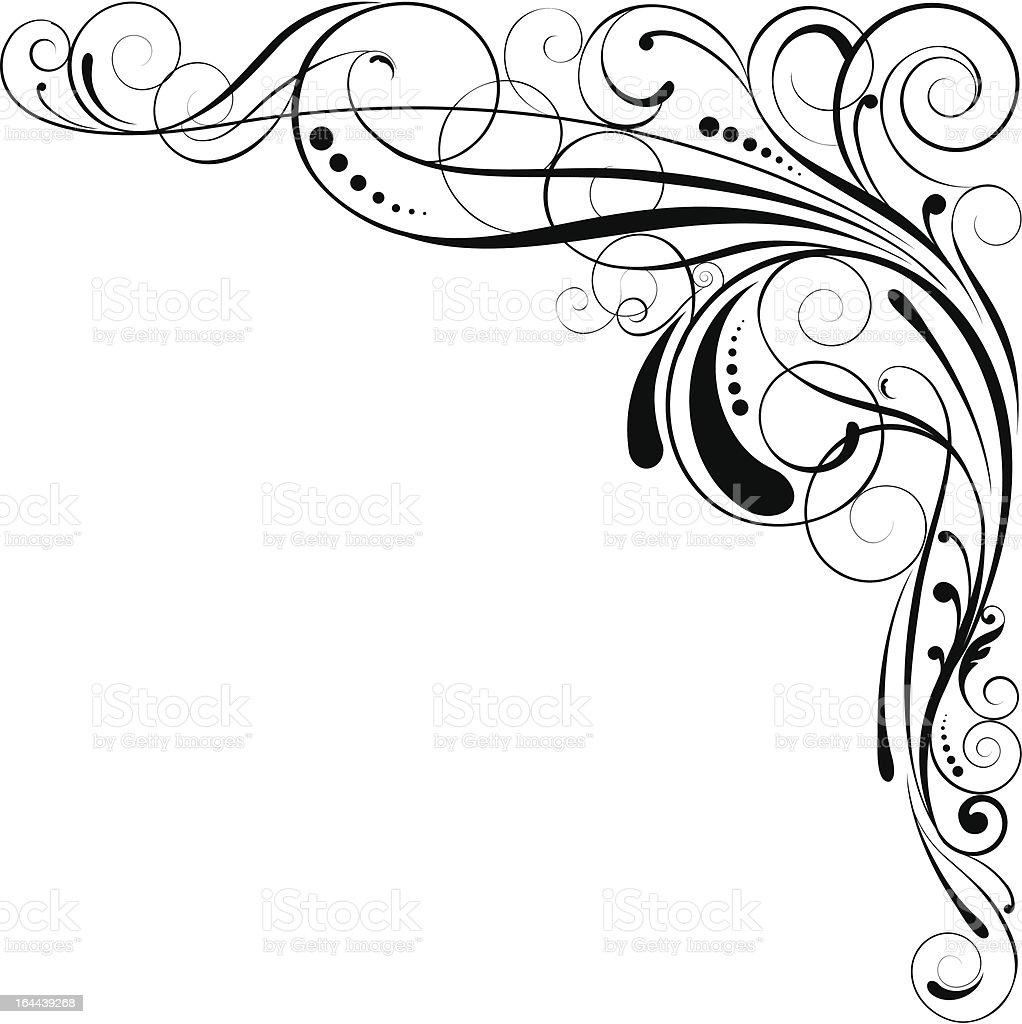 Swirl corner design royalty-free stock vector art
