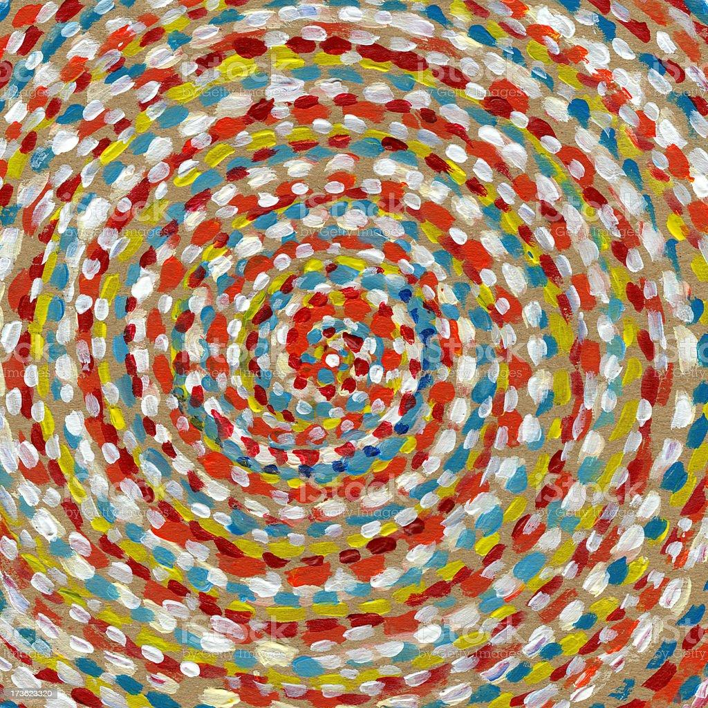 Swirl leichten in Pointilistic Technik Lizenzfreies vektor illustration