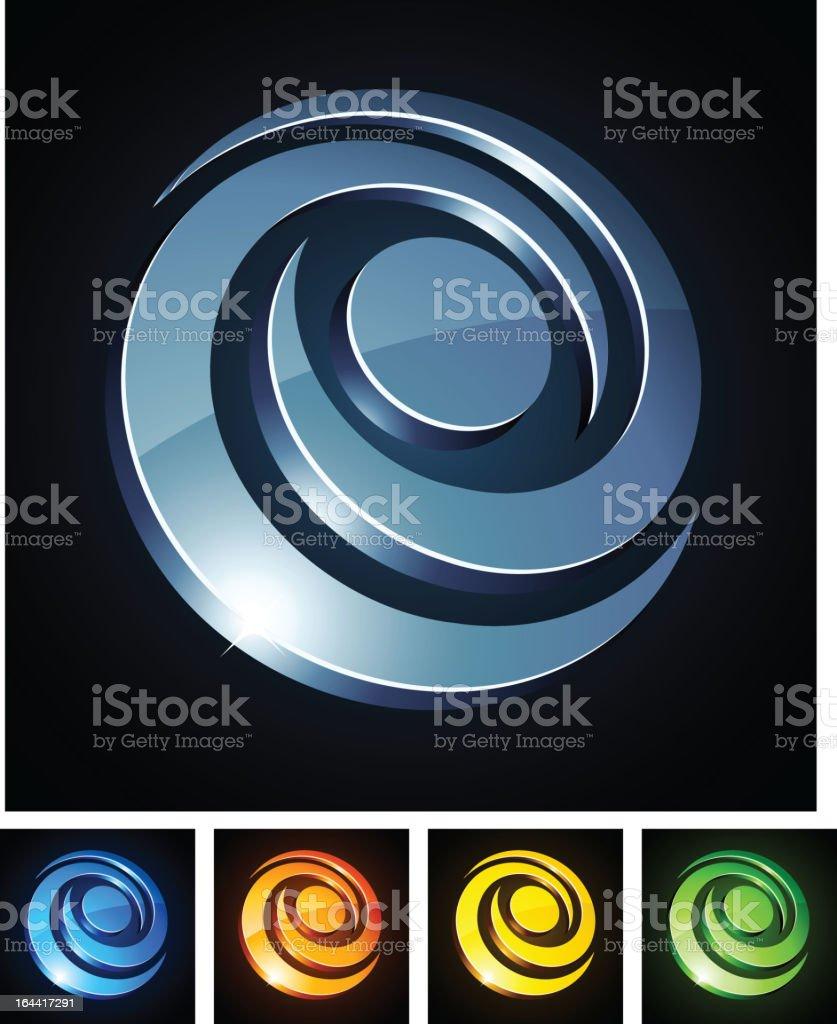 Swirl vibrant sign. royalty-free stock vector art