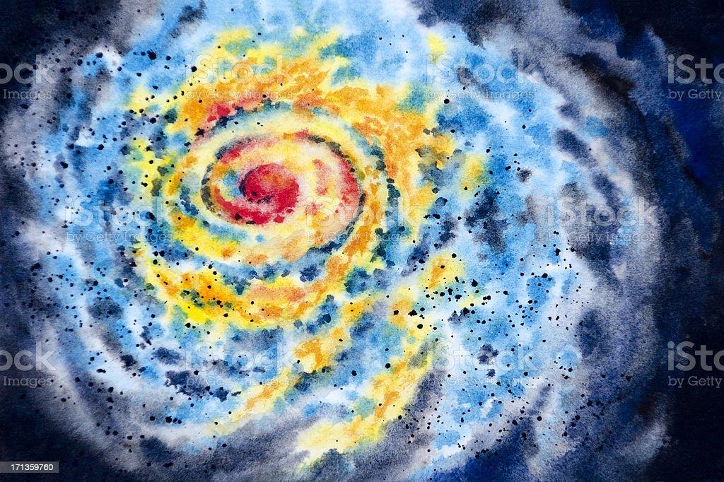 Swirling Storm System vector art illustration