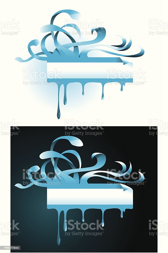 Swirling whirling banner vector art illustration