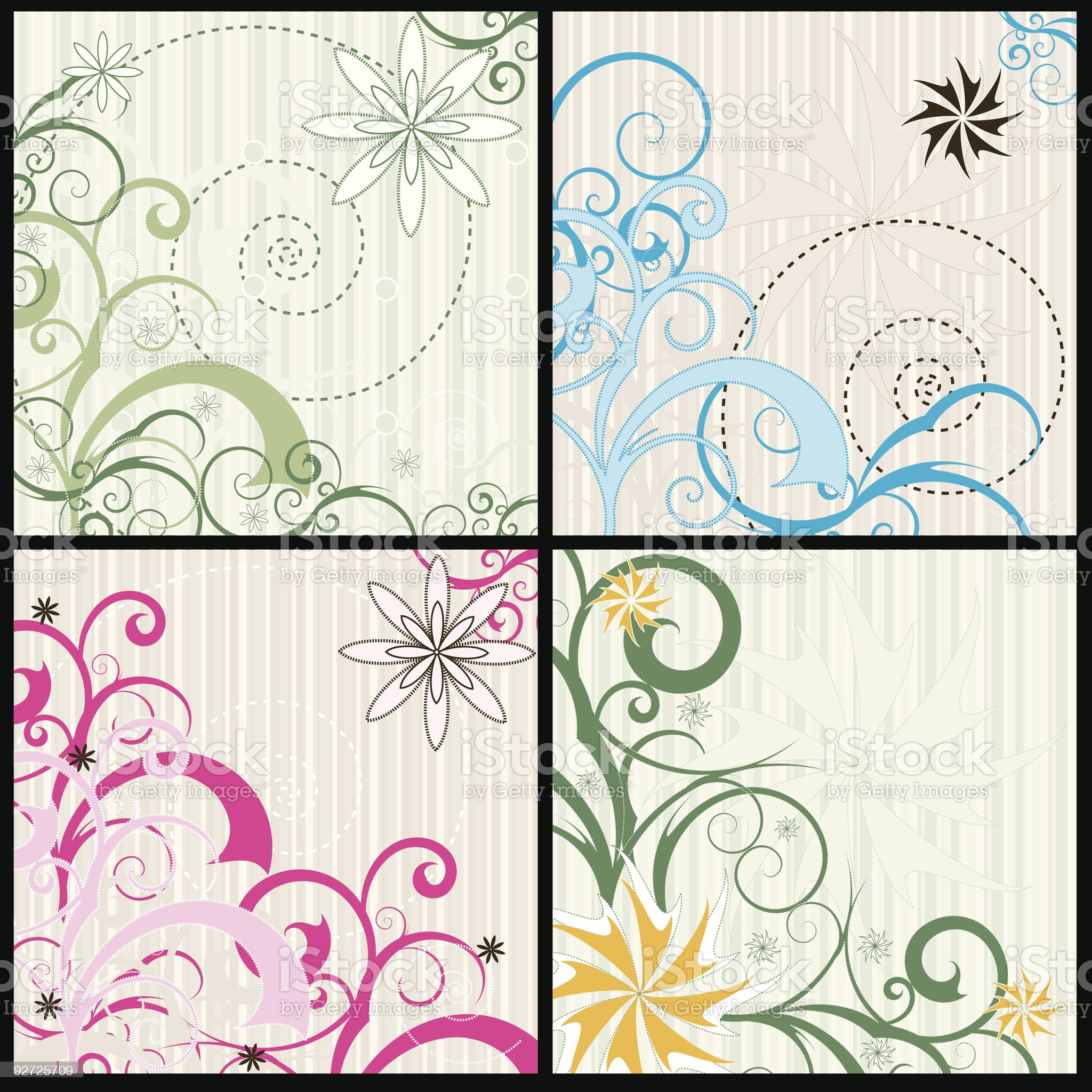 Swirls and Curls royalty-free stock vector art