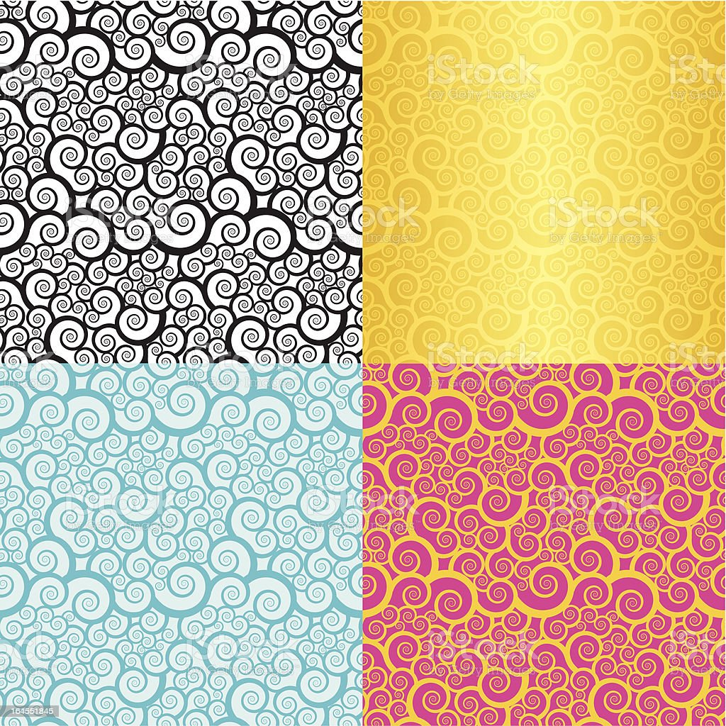 Swirly seamless pattern royalty-free stock vector art