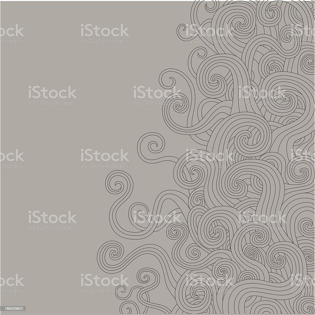 Swirly Waves royalty-free stock vector art