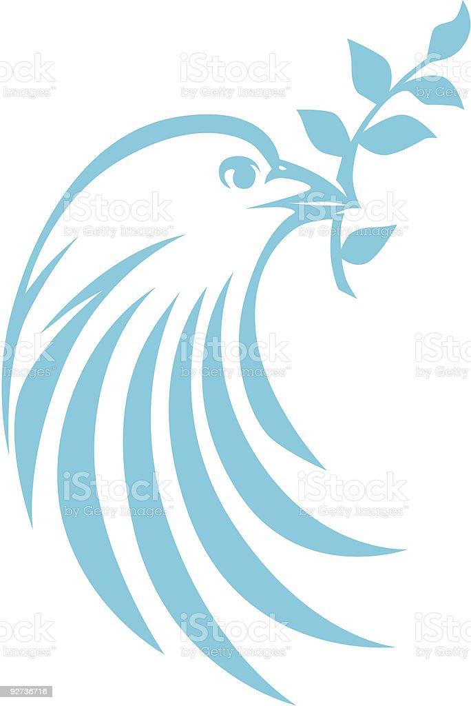 Swish Style Dove vector art illustration