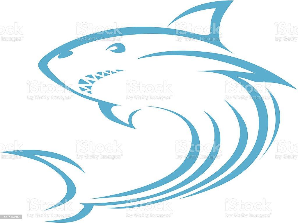 Swish Style Shark royalty-free stock vector art