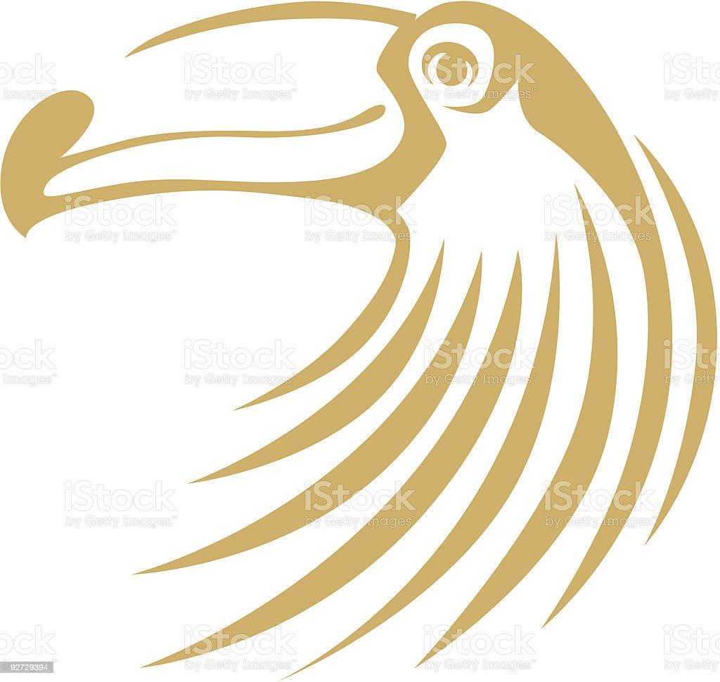 Swish Style Toucan royalty-free stock vector art