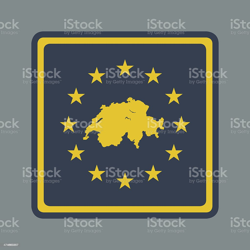 Switzerland European flag button royalty-free stock vector art
