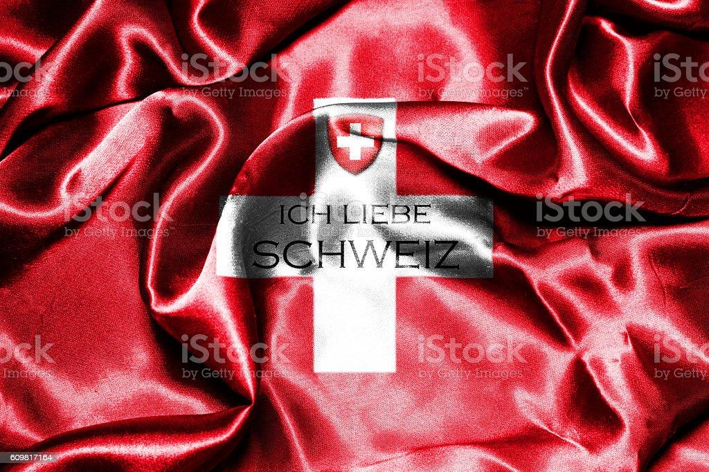 Switzerland National Flag vector art illustration