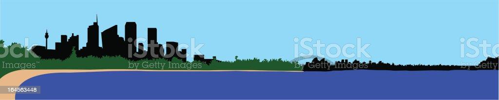 Sydney whole Skyline royalty-free stock vector art