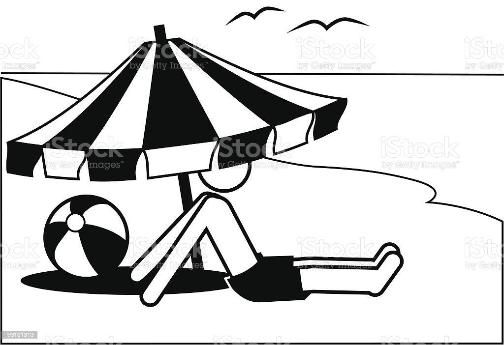 Sonnenschirm strand comic  Strand Clipart | ambiznes.com