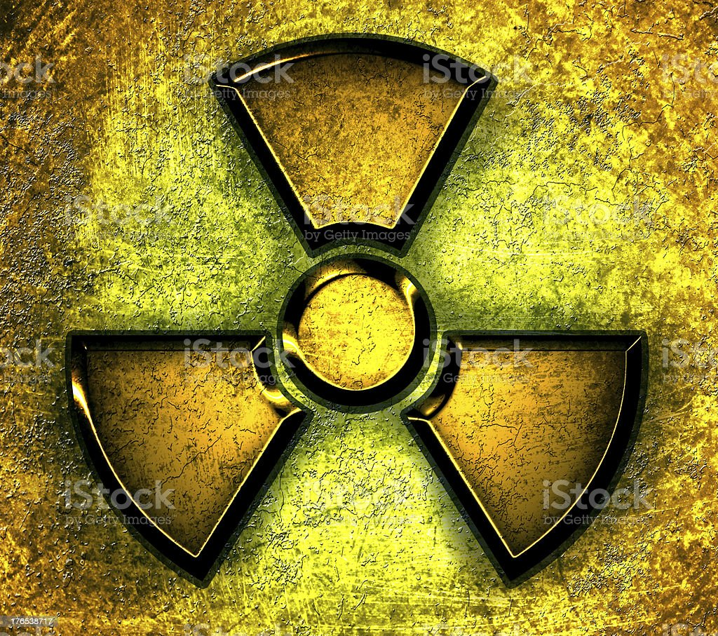 symbol of radiation on a steel background royalty-free stock vector art