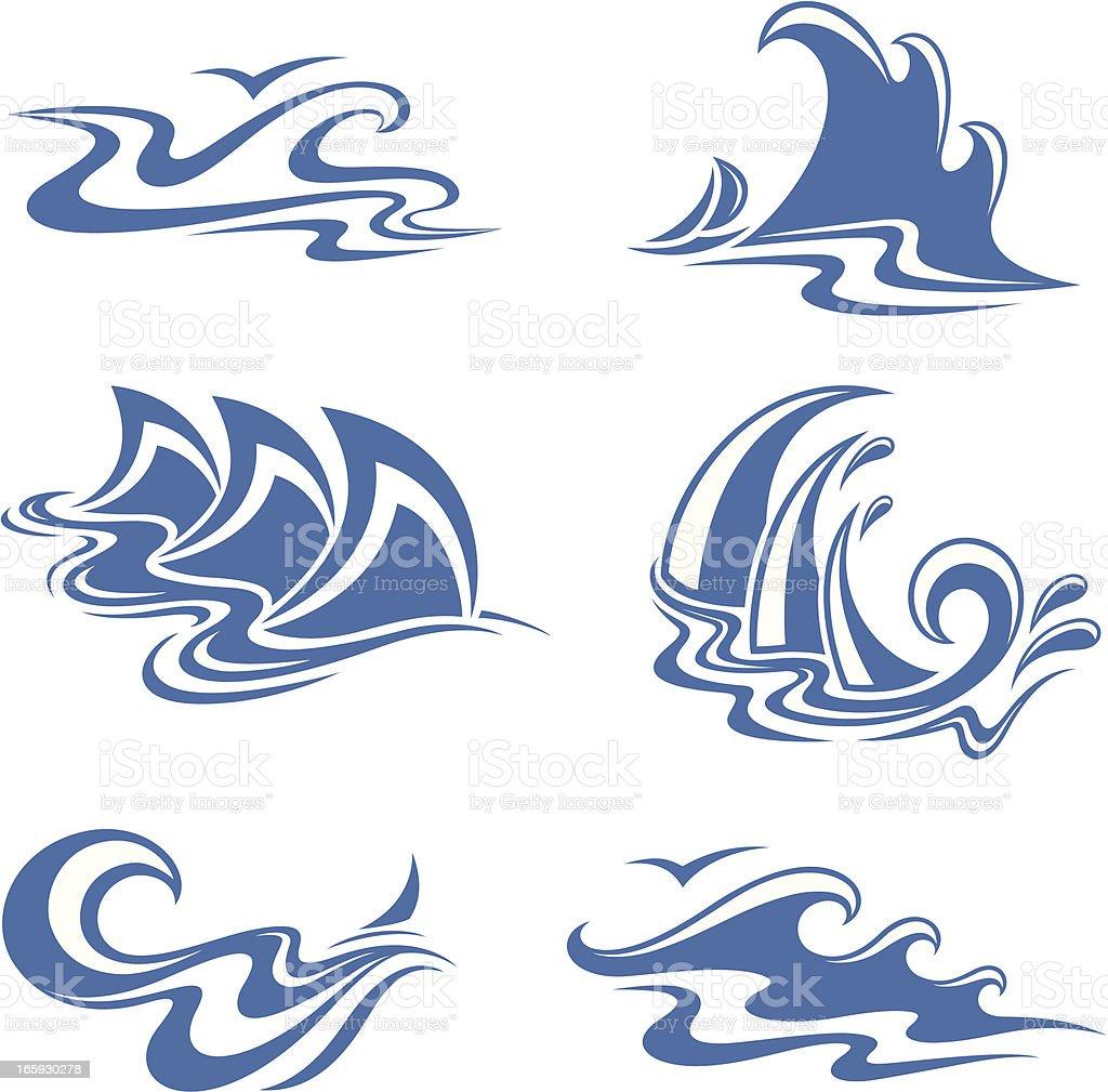 symbol  waves royalty-free stock vector art