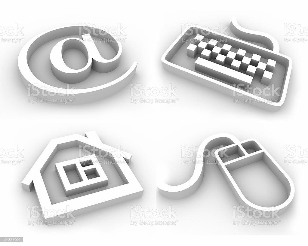 Symbols for web developping vector art illustration