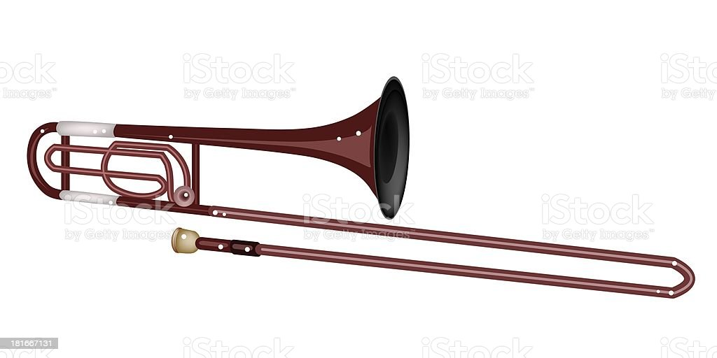 Symphonic Trombone Isolated on White Background royalty-free stock vector art