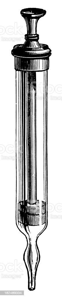 Syringe | Antique Design Illustrations vector art illustration