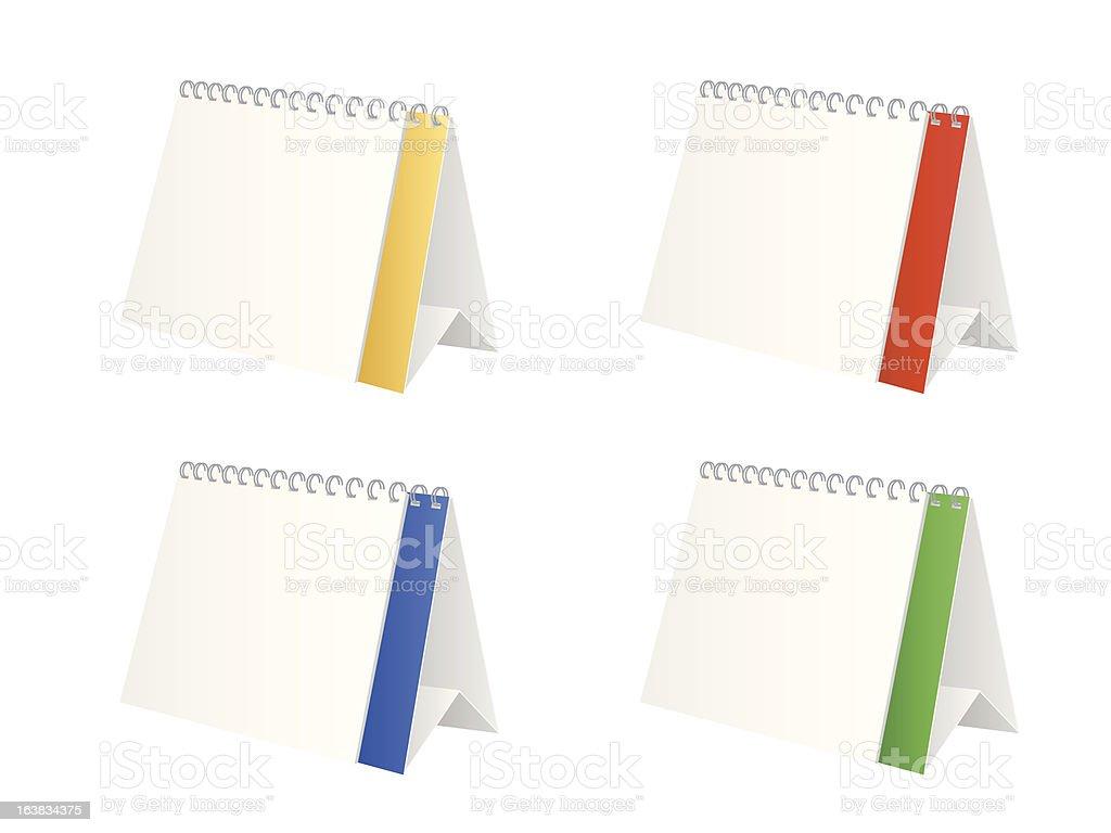 Table calendar royalty-free stock vector art