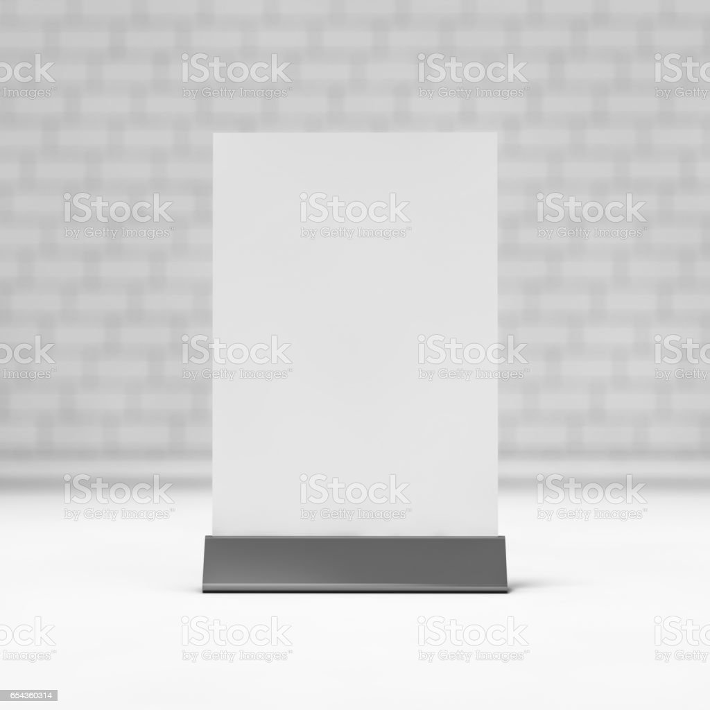 Table Tent isolated on white background. 3D rendering vector art illustration
