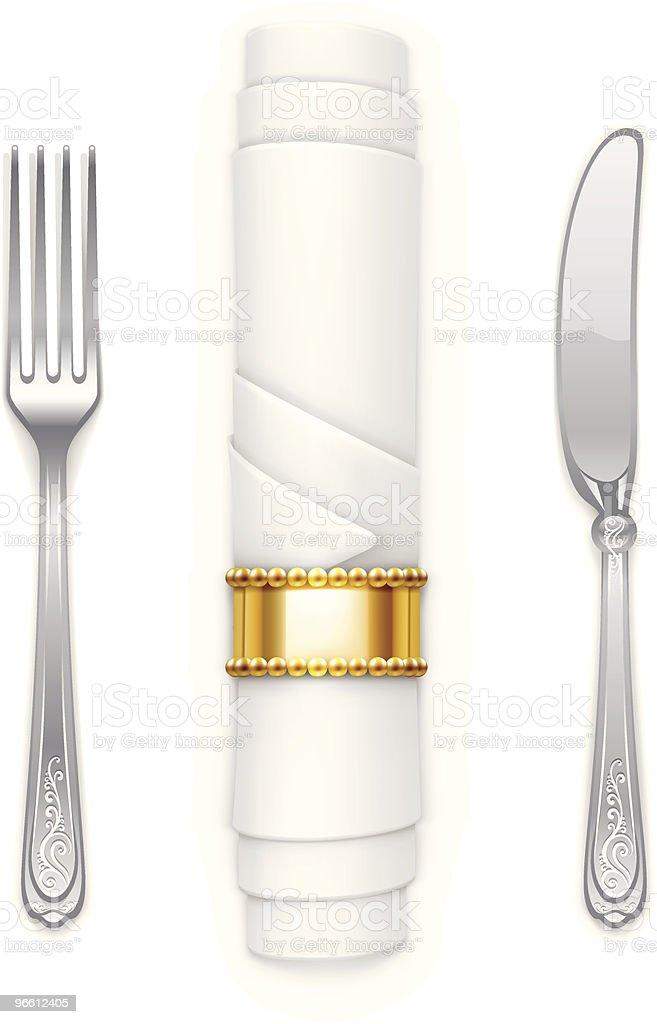 Tableware vector art illustration
