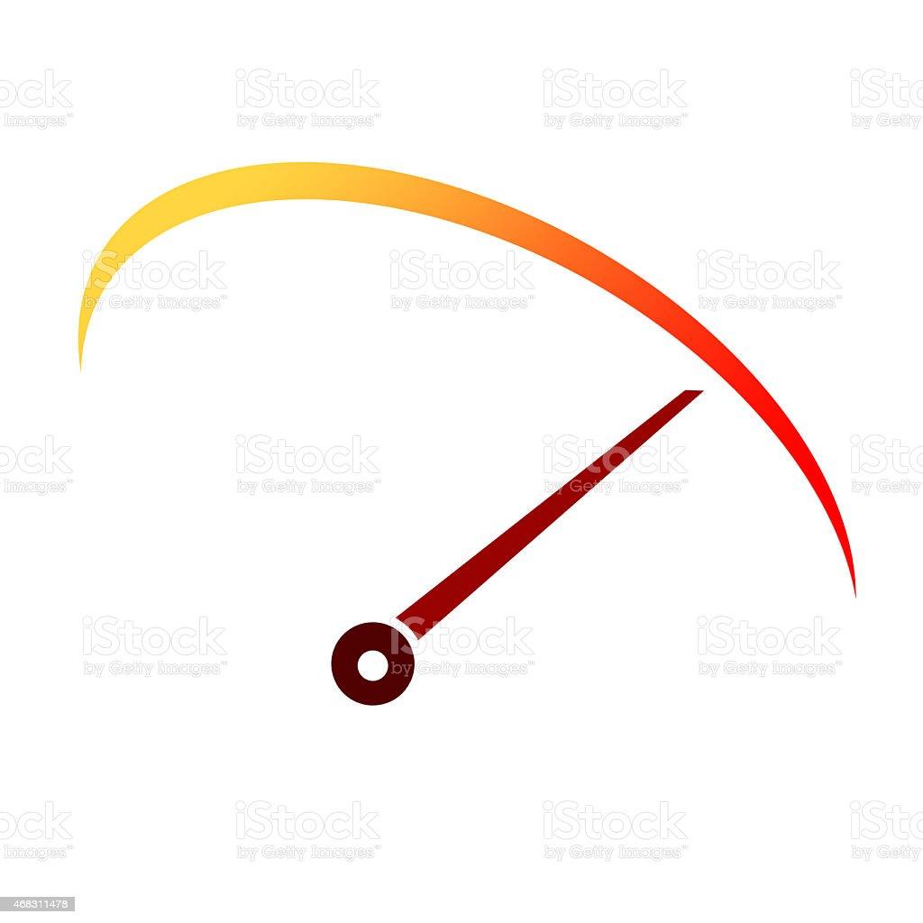 Tachometer speed icon vector art illustration