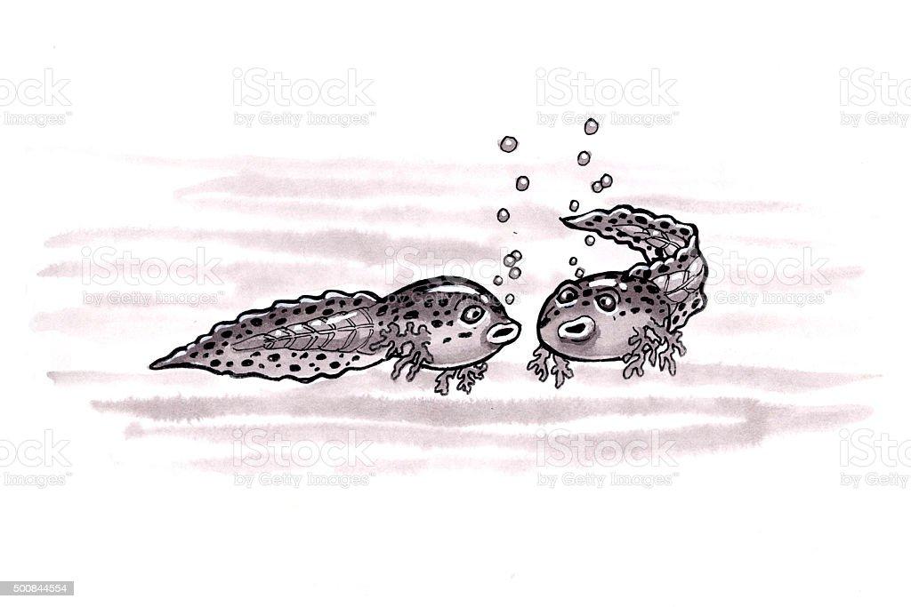 Tadpoles (Comic Lizenzfreies vektor illustration