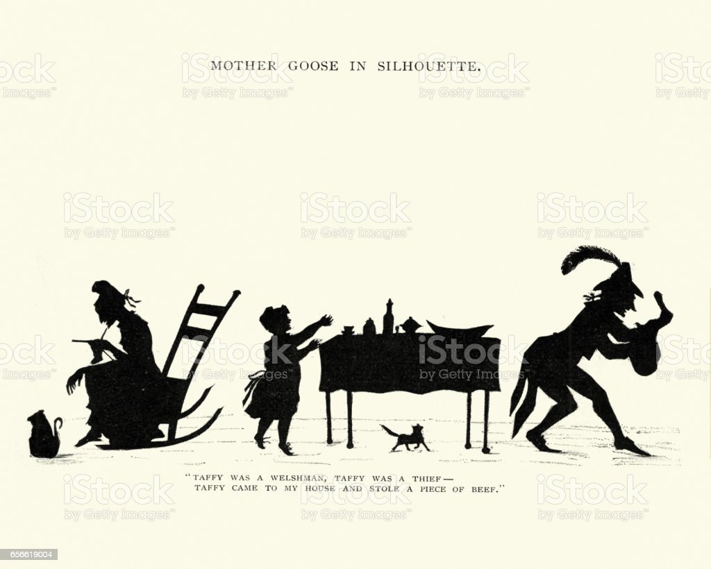 Taffy was a welshman, Taffy was a thief vector art illustration