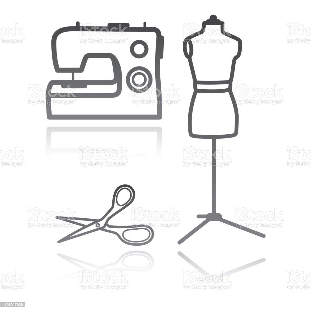 tailor's equipment royalty-free stock vector art