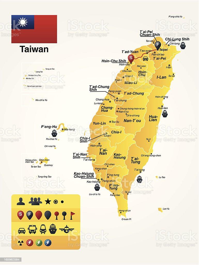 Taiwan vector art illustration