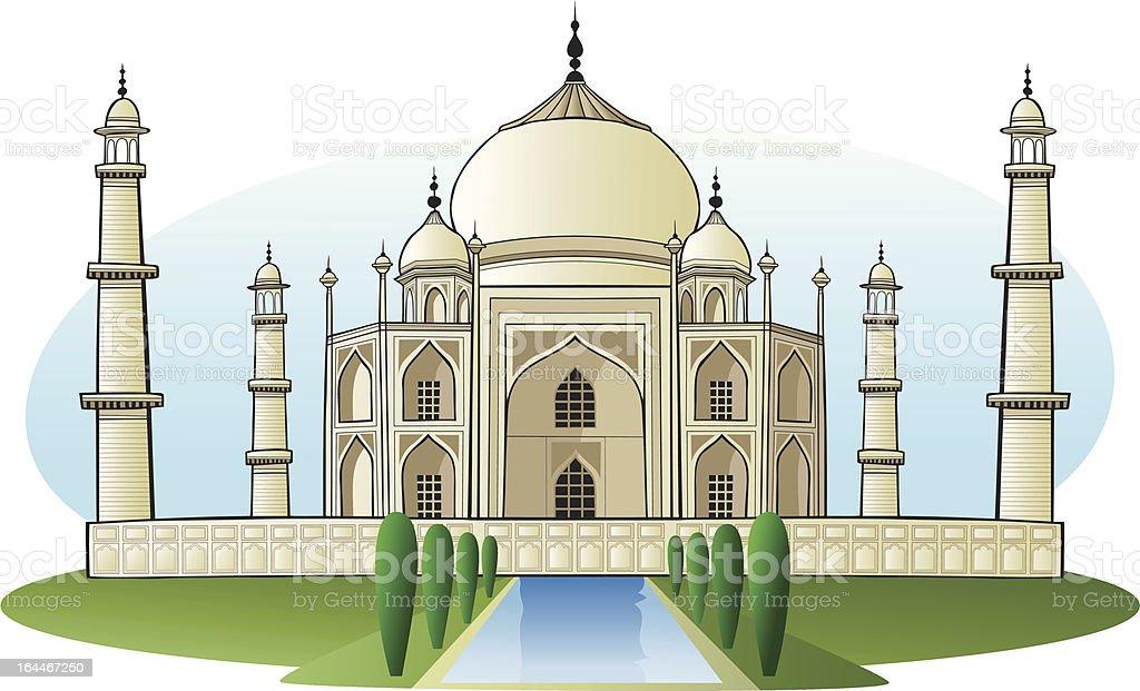 Taj Mahal, India vector art illustration