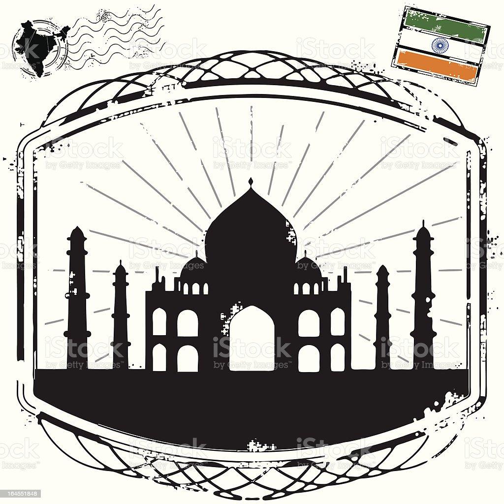 Taj Mahal the magnificent royalty-free stock vector art