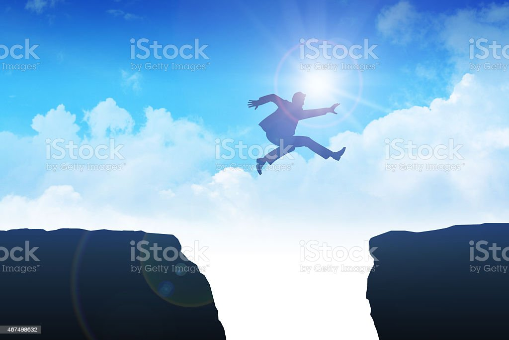 Take A Leap vector art illustration